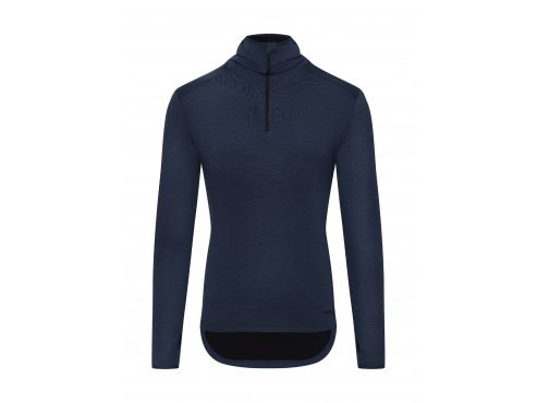 Cafe du cycliste SS19 Men City Merino Hooded Top Berthe Navy Packshot Front