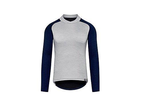 Funkční tričko s dlouhým rukávem Merino COSETTE námořní modrá s šedoumen cycling baselayer cosette grey navy[1]