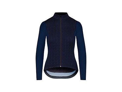 Dámský dres na kolo s dlouhým rukávem MERINO AUDAX IRMA - námořní modráwomen cycling jersey irma navy[1]