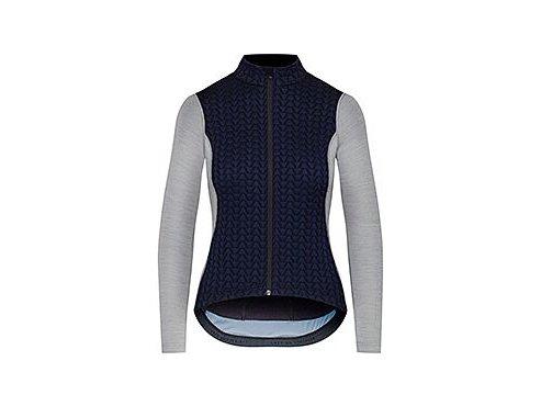 Dámský dres na kolo s dlouhým rukávem MERINO AUDAX IRMA - námořní modrá s šedouwomen cycling jersey irma navy grey 1[1]