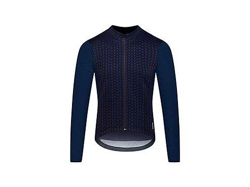Cyklodres s dlouhým rukávem MERINO AUDAX IRMA - námořní modrámen cycling jersey irma navy[1]