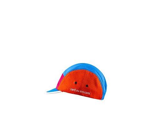Cyklistická čepice - GRAVEL - modro-růžovo-oranžovácycling cap gravel orange 3[1]