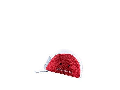 Cyklistická čepice - GRAVEL - bíle-šedo-vínovácycling cap gravel grey 1 2[1]