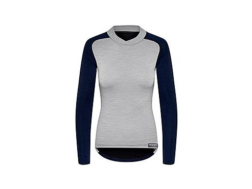 Dámské cyklistické triko Merino COSETTE námořní modrá s šedouwomen cycling baselayer cosette grey navy[1]