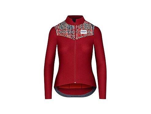Dámský dres na kolo s dlouhým rukávem CLEMENCE - vínováwomen cycling jersey clemence burgundy[1]