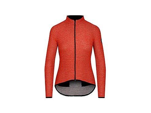 Dámský dres na kolo s dlouhým rukávem MERINO MARGUERITE - oranžováwomen cycling jersey marguerite orange[1]