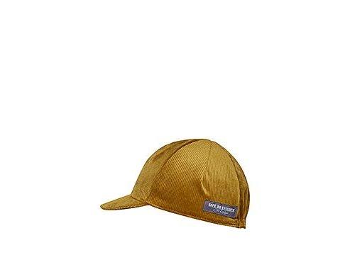 Cyklistická čepice - serie manšestrový design - sametově zlatámen women cycling cap velvet gold[1]