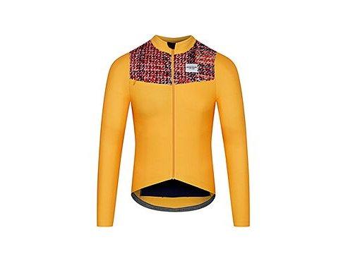 Cyklodres s dlouhým rukávem CLEMENCE žlutámen cycling jersey clemence yellow 2 1[1]