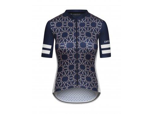 CAFÉ DU CYCLISTE - dámský cyklistický dres - cyklodres TICHKA námořní modrá