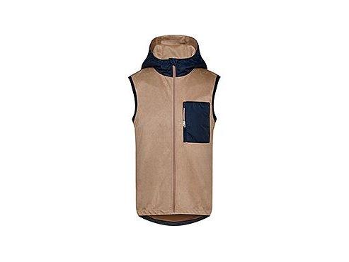 Cyklistická vesta s kapucí ATELIER ESTELLE - pískově béžovámen cycling atelier estelle sand 21102020[1]