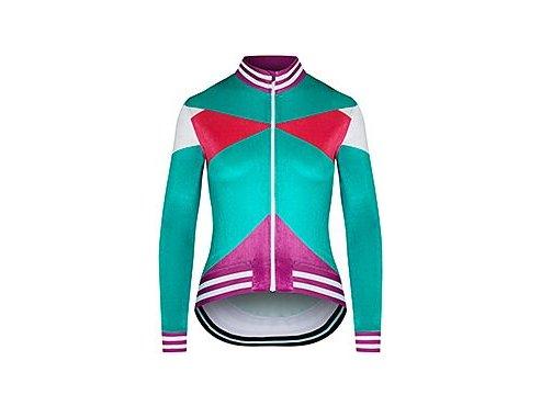 Dámský dres na kolo s dlouhým rukávem ATELIER VIVIANE - zelenáwomen cycling atelier viviane green[1]