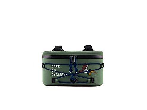 Cyklistická voděodolná brašna na řidítka - zelenáaccessories cycling handlebar bag kaki[1]