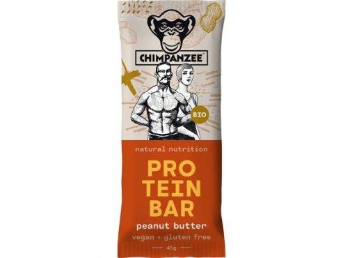 Proteinové tyčinky - proteinová tyčinka CHIMPANZEE BIO PROTEIN BAR Peanut Butter 45g, CZ-BIO-002