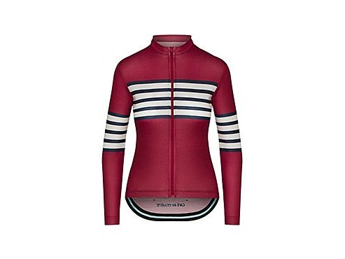 CAFÉ DU CYCLISTE - dámské cyklistické dresy - cyklodres s dlouhým rukávem Merino WOMEN'S CLAUDETTE červená