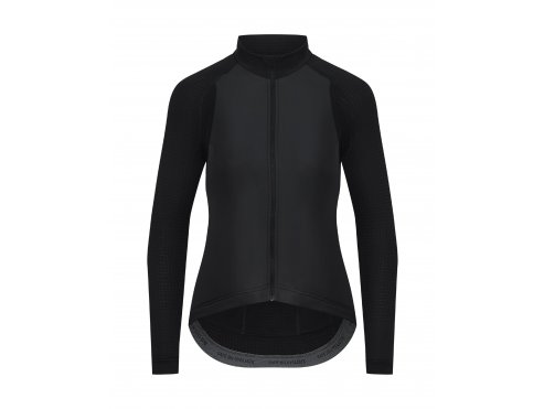 CAFÉ DU CYCLISTE Dámský cyklistický dres - cyklodres s dlouhým rukávem WOMEN'S PATRICIA černá