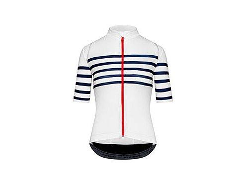 Dámský cyklo dres AUDAX MONA - bílá s modrým proužkemwomen cycling mona mesh classic[1]