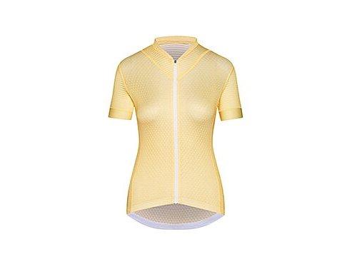 Dámský cyklo dres MICHELINE - citrónově žlutá