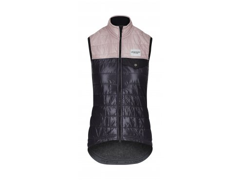 Café du Cycliste SS19 Women Gilet Albertine navy Dusty Pink Packshot front