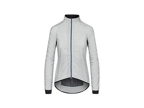 CAFÉ DU CYCLISTE - dámské cyklistické bundy - cyklistická větrovka na kolo WOMEN'S MADELEINE šedá a bílá