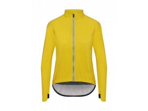 Dámská cyklistitká nepromokavá bunda na kolo - do deště CAFÉ DU CYCLISTE - SUZETTE žlutá