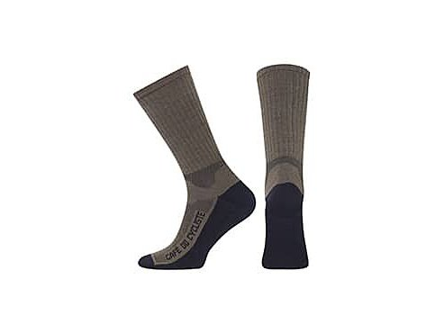 Zimní ponožky na kolo Merino PRIMALOFT - vojenská zelená
