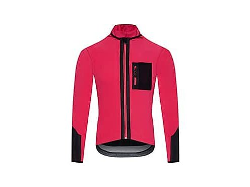 Cyklo dres s dlouhým rukávem AUDAX INGRID - neónově růžová