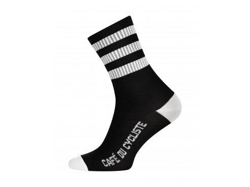 CAFÉ DU CYCLISTE - cyklistické ponožky - SKATE bílá a bílá