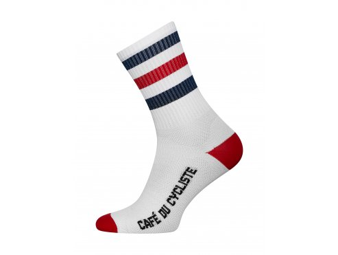 CAFÉ DU CYCLISTE - cyklistické ponožky - SKATE červená a námořní modrá