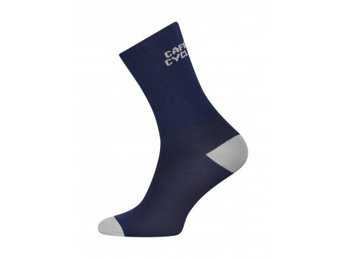 Café du Cycliste SS19 accessoires Socks Block Colour Navy Packshot Side