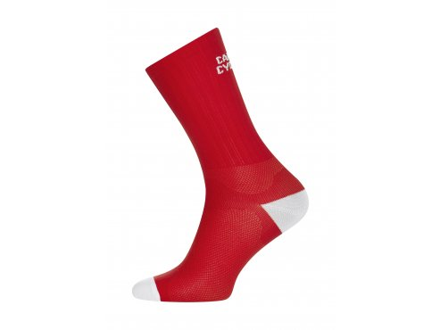 Café du Cycliste SS19 accessoires Socks block colour red packshot side