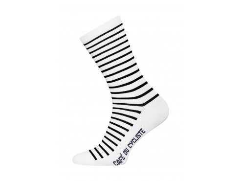 Café du Cycliste SS19 accessoires Socks breton mariniere blue Packshot side