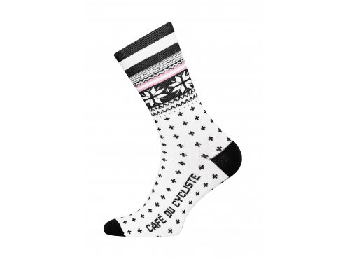 Café du Cycliste SS19 Accessoires Socks Merino nordic High Cuff Black Packshot Side