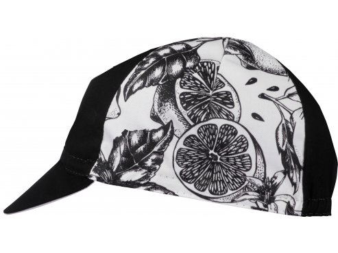 Café du Cycliste SS19 Accessoires Cap Fruit Lemon Black Packshot Side