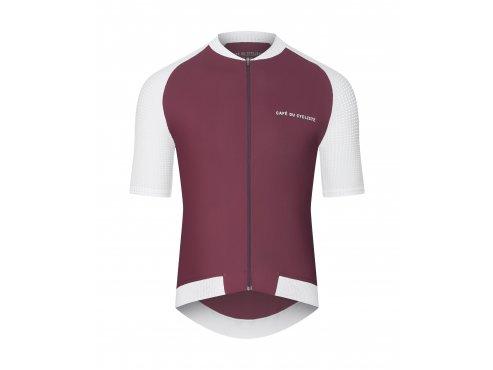 CAFÉ DU CYCLISTE - pánský cyklistický dres - cyklodres DALIDA vínová
