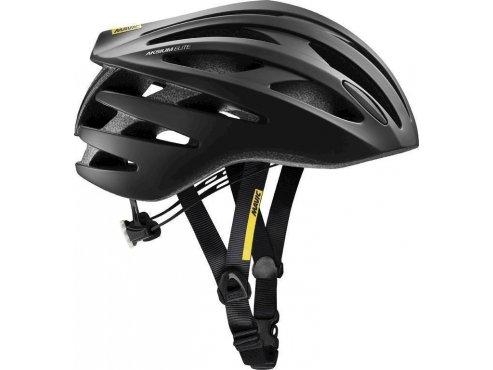 19 MAVIC cyklistická helma na kolo černá AKSIUM ELITE BLACK/WHITE 378362
