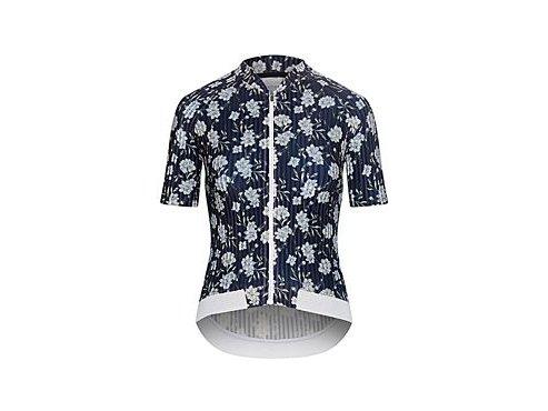 Dámský dres na kolo OCTAVIA ATELIER - Flower bílá a modrá