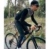 CAFÉ DU CYCLISTE - pánské cyklistické dresy - cyklodres s dlouhým rukávem Merino AUDAX IRMA šedo - černá