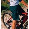 Cyklistické volné GRAVEL kraťasy VIRGINIE - Alpská zelená