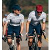 CAFÉ DU CYCLISTE - dámské cyklistické dresy - cyklodres FRANCINE bílá a námořní modrá