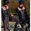 CAFÉ DU CYCLISTE - dámské cyklistické vesty - vesta Merino WOMEN'S ALBERTINE námořní modrá a růžová