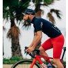 CAFÉ DU CYCLISTE - pánské cyklistické kalhoty - cyklo kraťasy MARINETTE červená