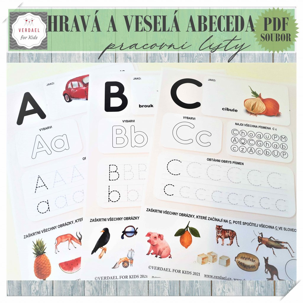 hravá a veselá abeceda