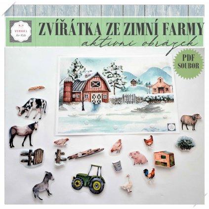 zvířata ze zimní farmy