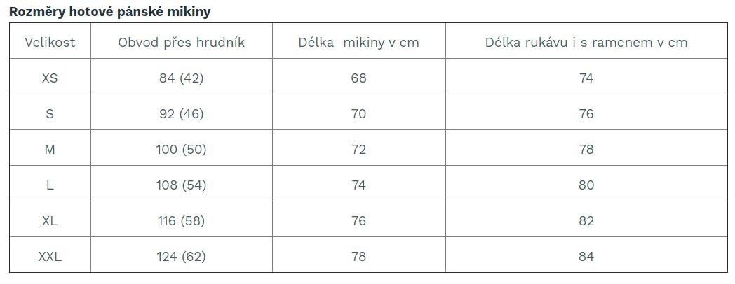 panska-mikina-shara-velikostni-tabulka