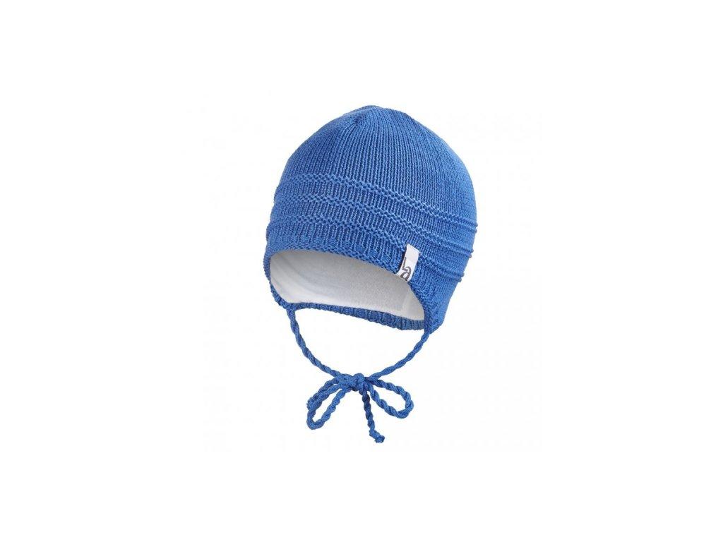 Čepice pletená zavazovací tenká Outlast ® - modrá