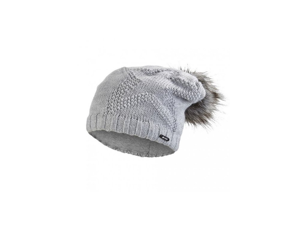 Čepice pletená žakárová hvězda Outlast ® - sv.šedá