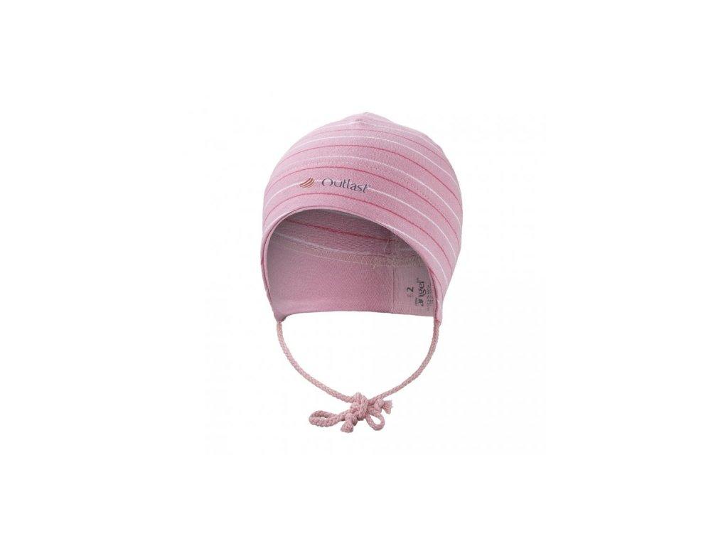 Čepice smyk zavazovací Outlast ® - pruh stř.růžový