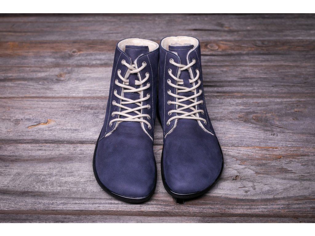 Barefoot kotníkové boty Be Lenka Winter – Marine