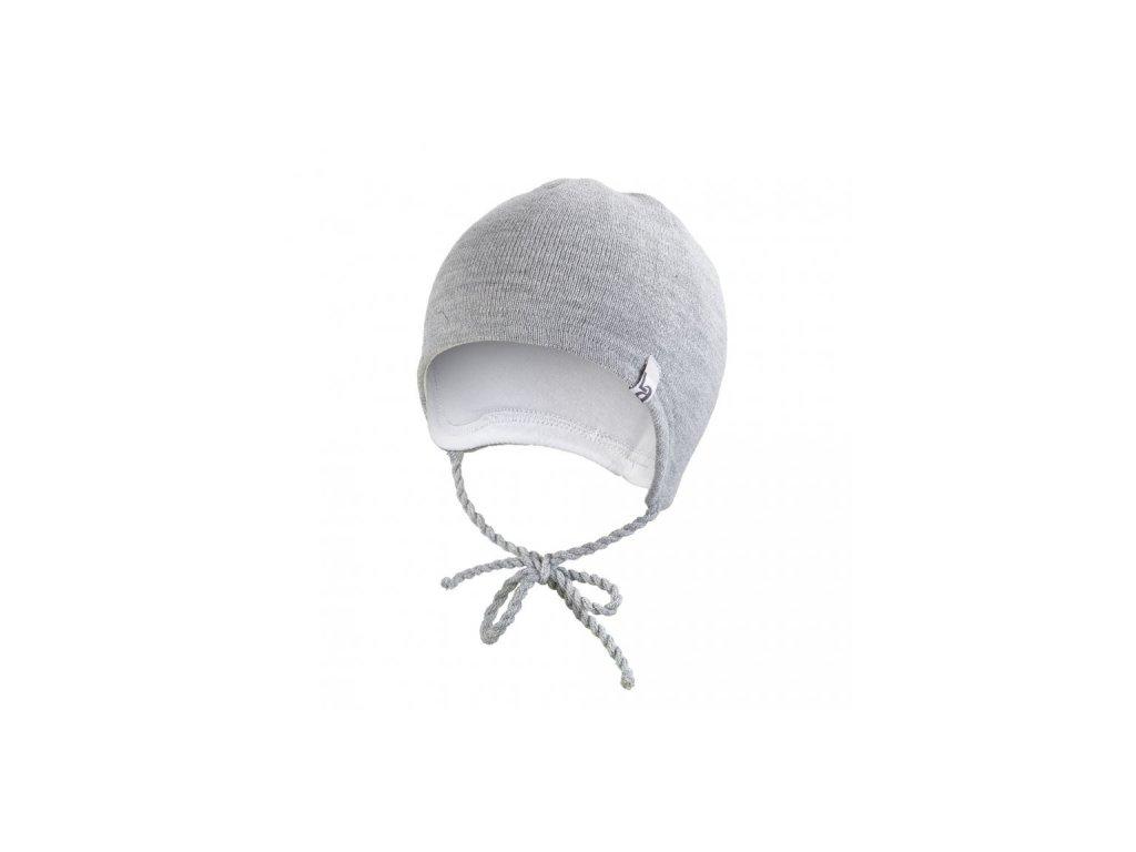 Čepice pletená zavazovací LA Outlast ® - šedá