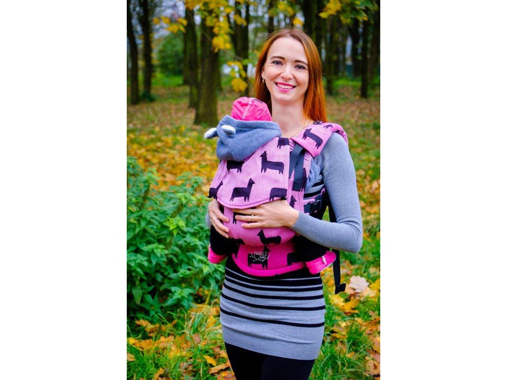 Nosítko Kavka/Pabelle Multi-Age Llama Pink + slintáčky